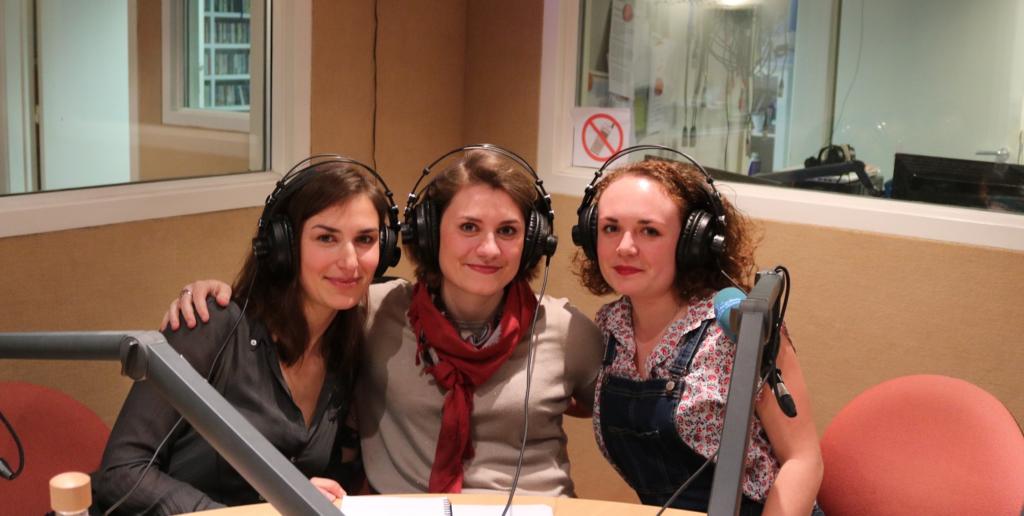 Ludmilla, Victoria et Lucile nous ont rendu visite au studio juste avant leur départ (Photo DL/Les Défricheurs/cc)