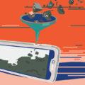 Représentation de la pollution des métaux rares dans les smartphones
